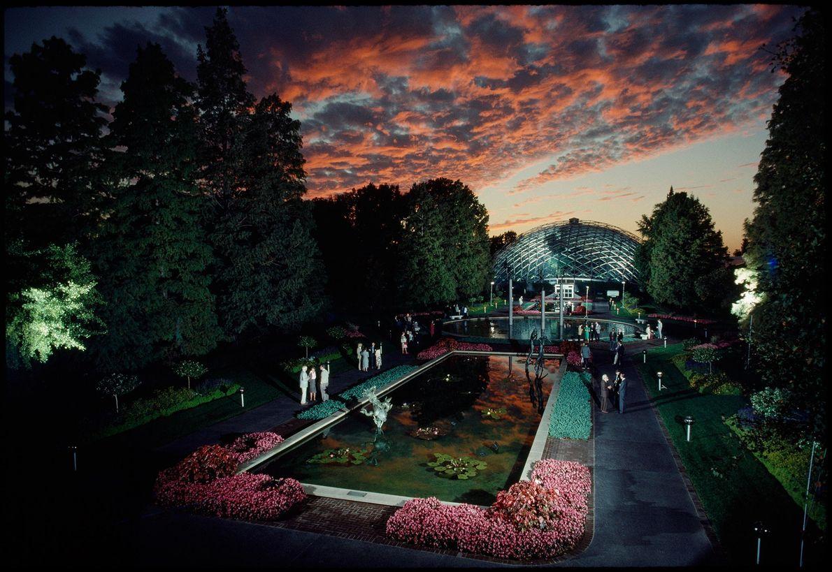 Pôr-do-sol no Jardim