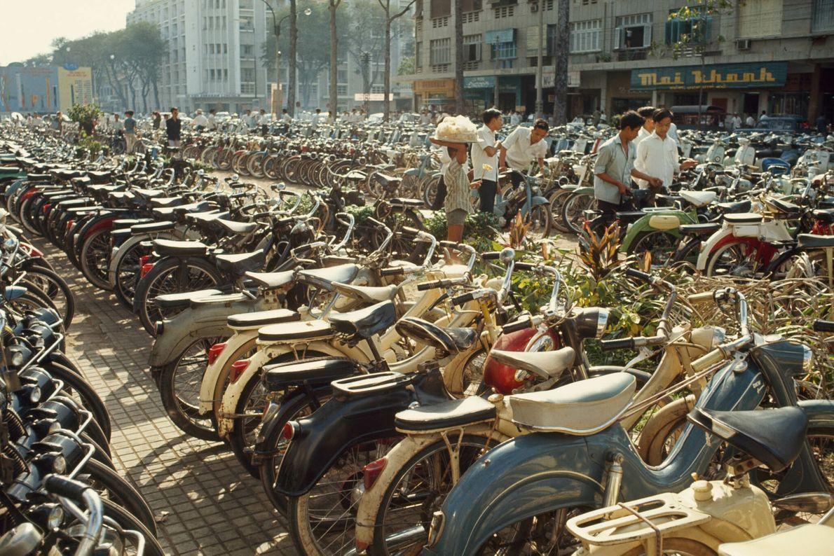 Filas de Bicicletas