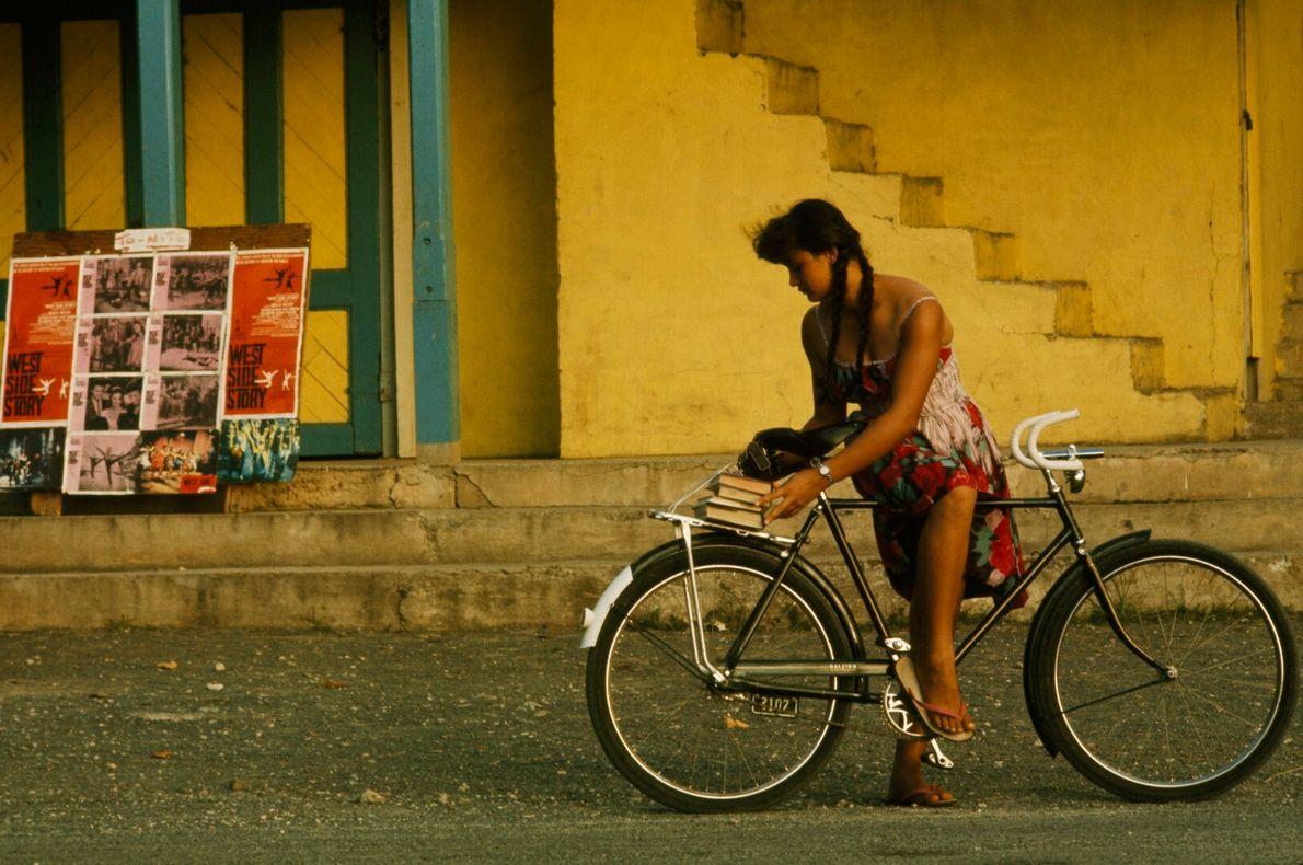 Livros na bicicleta
