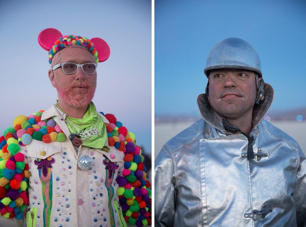 Frisk (à esquerda) já participa no Burning Man desde 1996