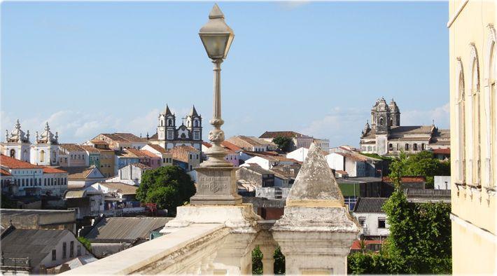 Centro Histórico de Salvador, no Brasil.