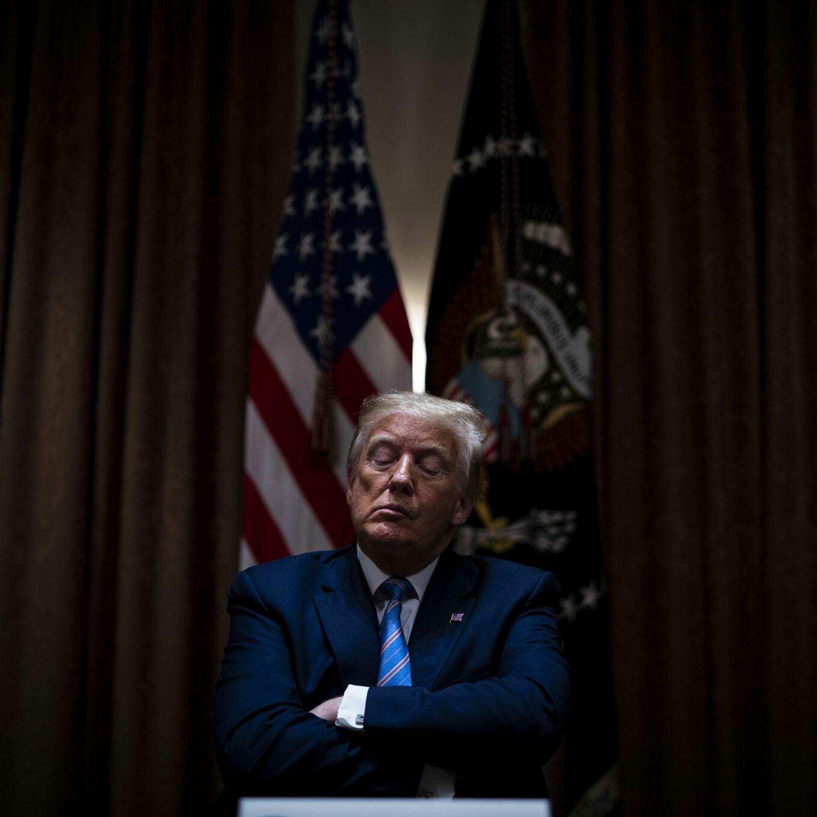 O presidente dos EUA, Donald Trump, durante uma reunião em Washington D.C., em junho de 2020. ...