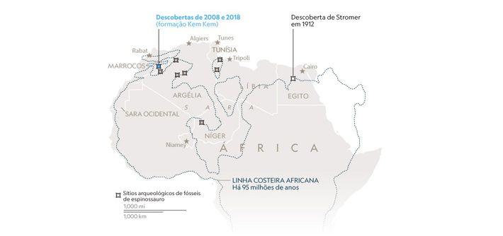 Mapa: NG Staff. Fonte: Ron Blakey, Colorado Plateau Geosystems.