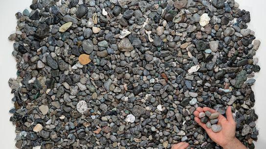 Piroplásticos recolhidos nas praias da Cornualha.