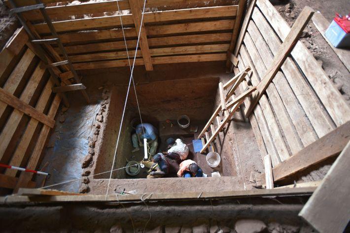escavações em Panga ya Saidi