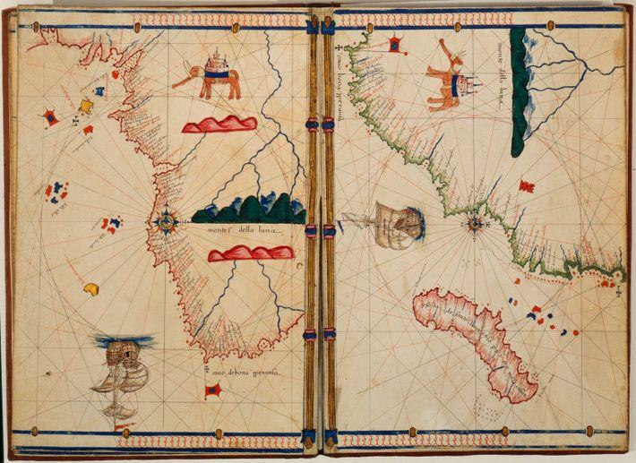 mapa italiano do Cabo da Boa Esperança