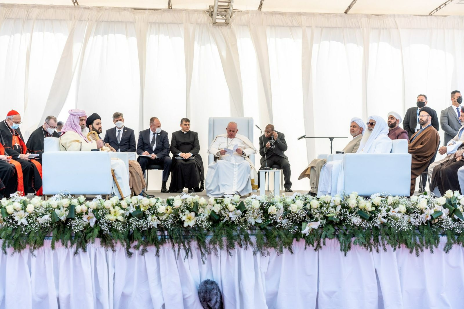 Papa Francisco com líderes interconfessionais
