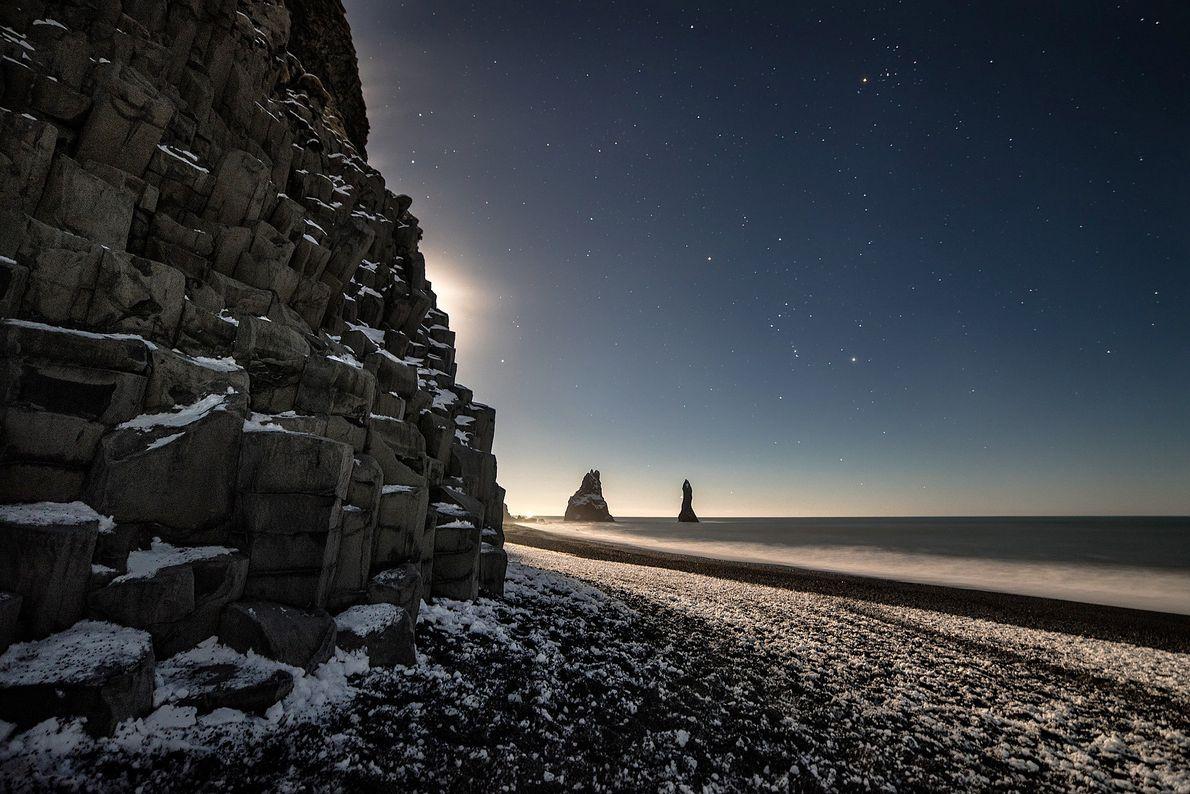 Praia de Reynisfjara, Islândia.