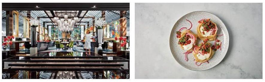 Esquerda: O restaurante Blok de São Petersburgo é especializado em bifes e culinária das províncias. Direita: Bolinhos ...