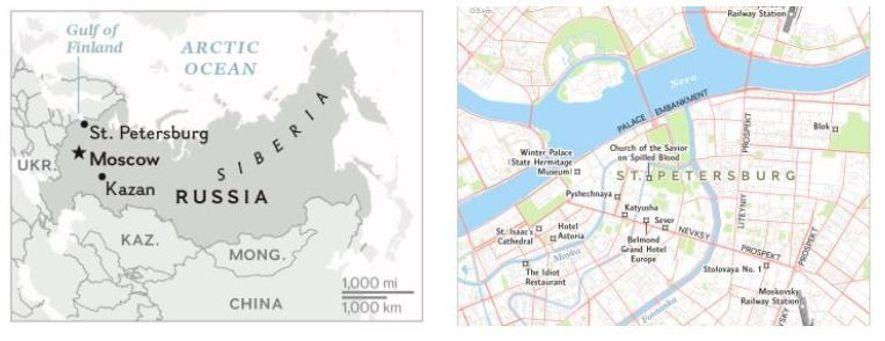 Esquerda: Com mais de 160 grupos étnicos e 11 fusos horários, a Rússia oferece uma vasta ...