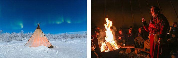 tenda e renas sámi