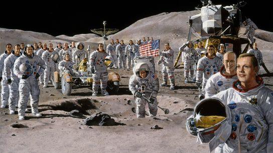 O sonho partilhado de alcançar a lua uniu os astronautas da Apollo num enorme esforço de ...