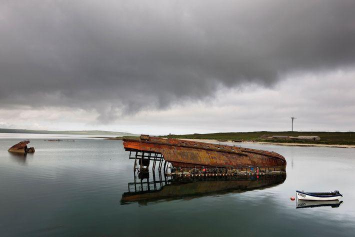 Ilhas Orkney, na Escócia.