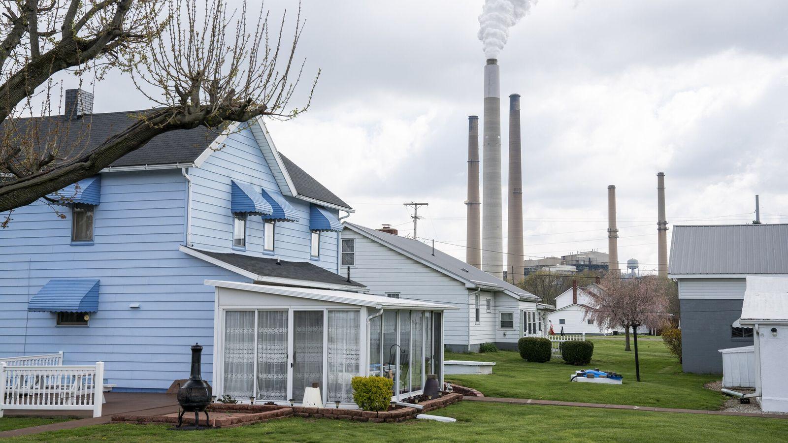 A Central Elétrica Americana em Conesville, no Ohio, queimou a sua última tonelada de carvão em ...