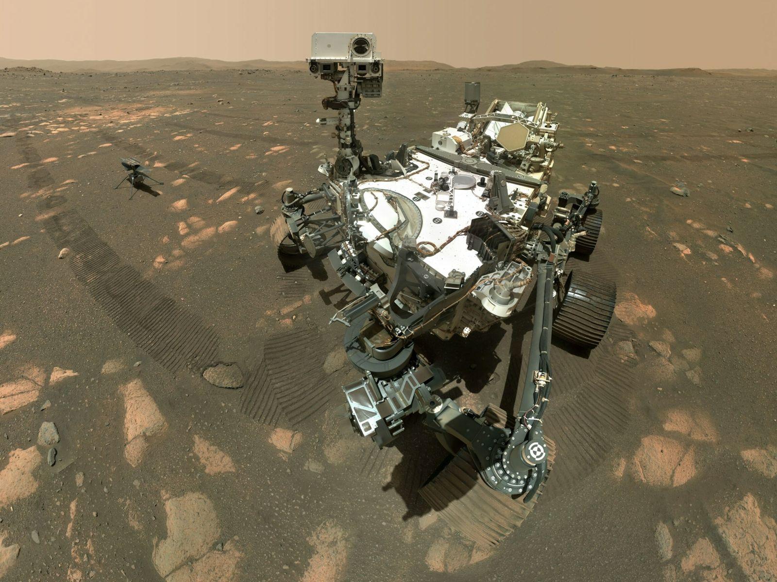 O rover Perseverance da NASA recolheu a sua primeira amostra de rocha para enviar para a ...