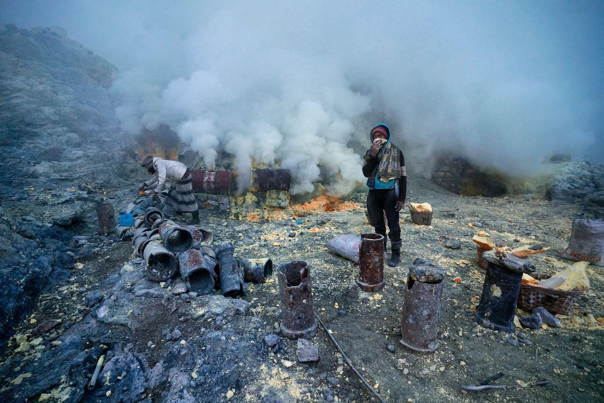Libertação de gases vulcânicos tóxicos
