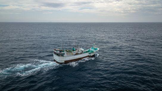 A frota pesqueira de Taiwan em águas remotas é uma das maiores do mundo, com mais ...