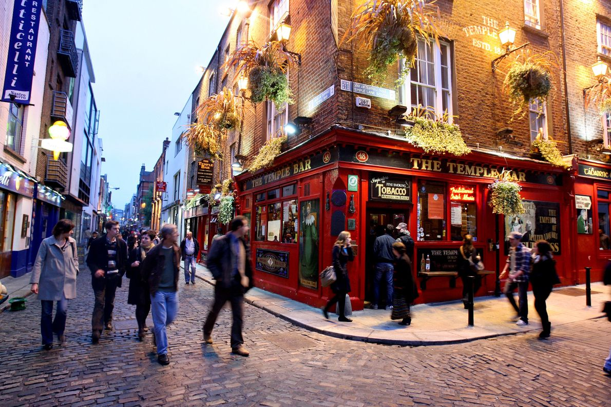 Temple Pub, na Irlanda.