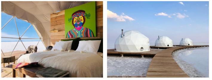 A Kachi Lodge fica no Salar de Uyuni, a maior planície de sal do mundo, na ...