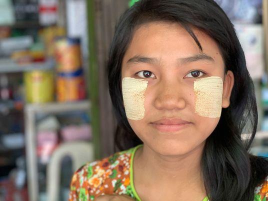 Em Myanmar, Todas as Pessoas Confiam Neste Cosmético Natural