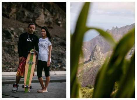 Esquerda: Os jovens habitantes de Santa Helena usam as montanhas para se divertir. Direita: Santa Helena atrai ...