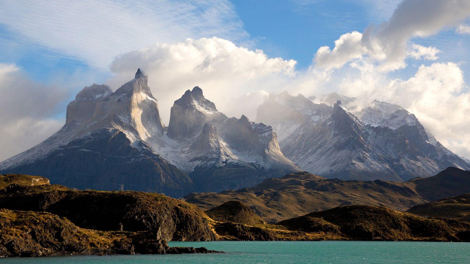 """Um dos primeiros visitantes de Torres del Paine, no Chile, disse que o sítio """"tinha as ..."""