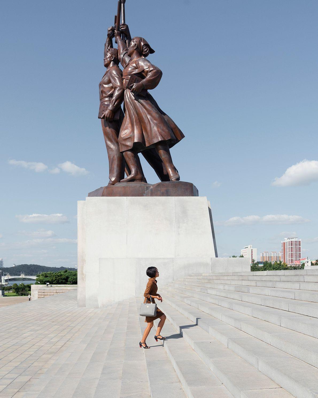A Juche Tower é um monumento da capital da Coreia do Norte.