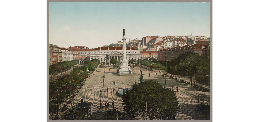 Praça de D. Pedro – Rossio, Lisboa (1890).