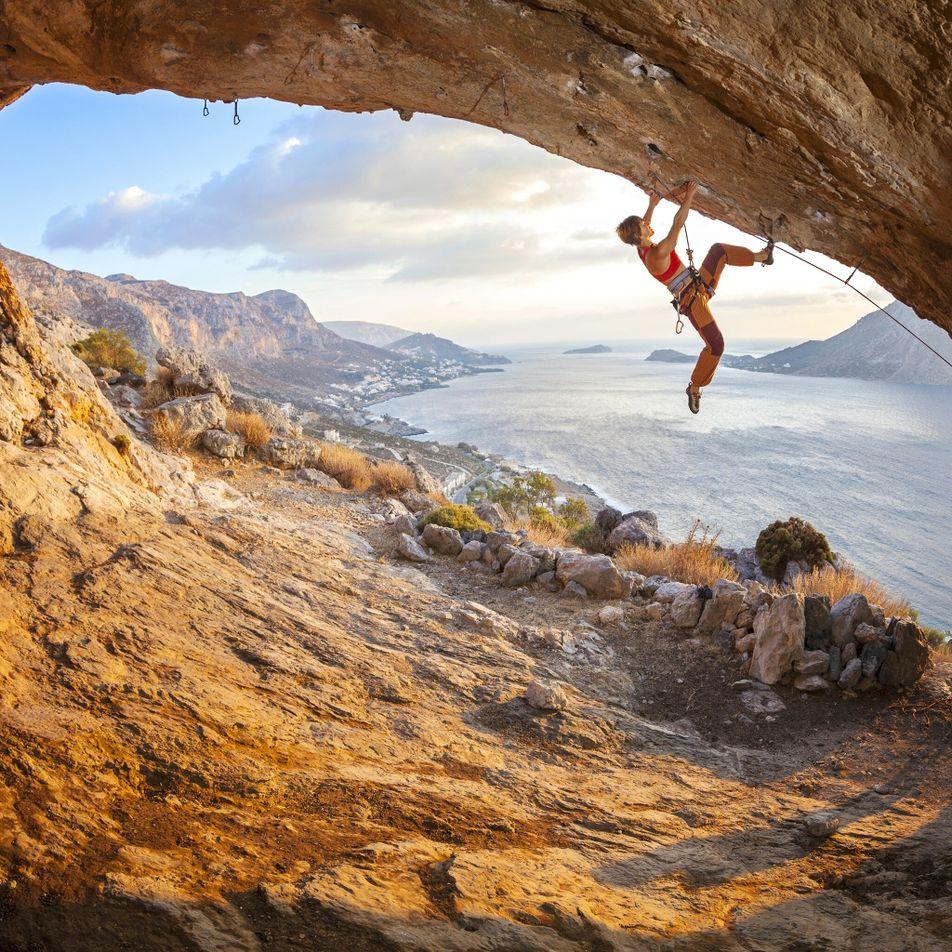 Como a escalada desportiva está a ajudar a revitalizar uma ilha grega