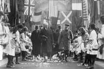 O presidente dos Estados Unidos, Woodrow Wilson