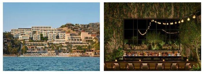 O moderno Bodrum Edition oferece tratamentos spa, um restaurante elegante e praia privativa.