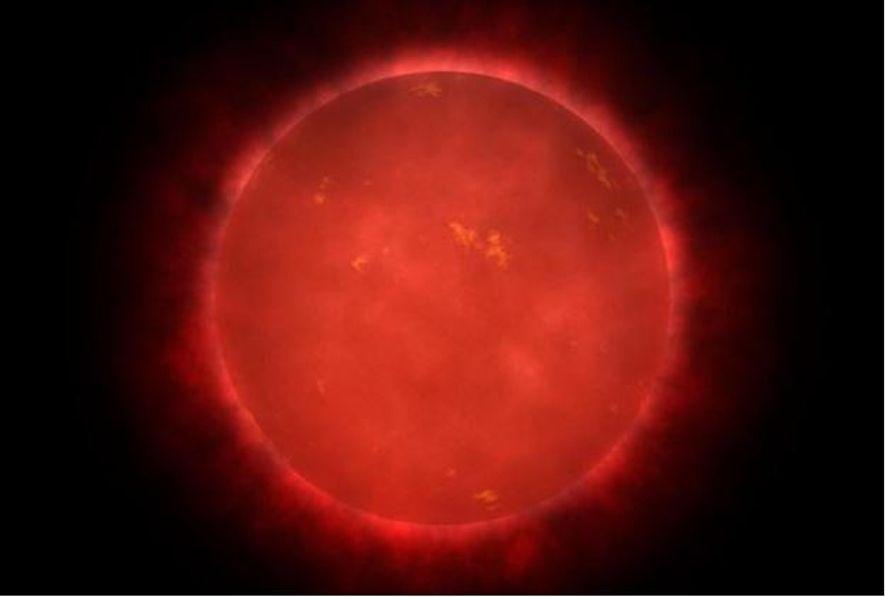 Nesta ilustração vemos a estrela de Teegarden, uma anã vermelha muito fraca a cerca de 12 ...