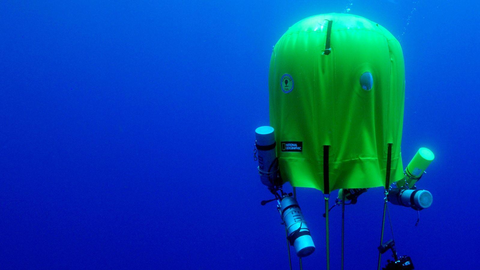 Ocean Space Habitat é um sistema de suporte de vida portátil para mergulhadores que desejam ...
