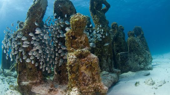 O Museu Subaquático de Cancun.