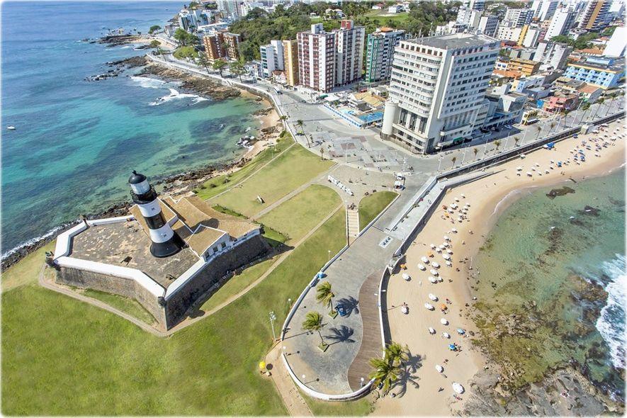 Farol da Barra, em Salvador da Bahia.