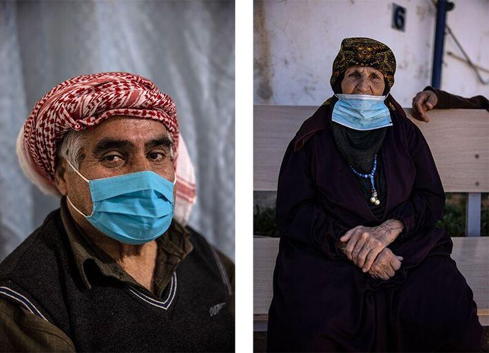 refugiados da cidade síria de Daraa