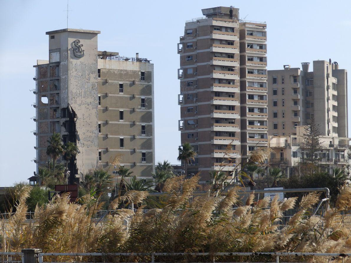 As construções deterioradas de Varosha.