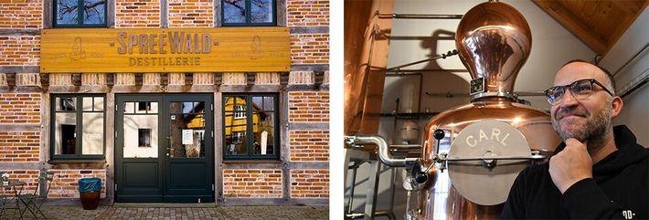 Esquerda: A Destilaria de Spreewald, localizada em Schlepzig, produz o Stork Club, o primeiro whisky de ...