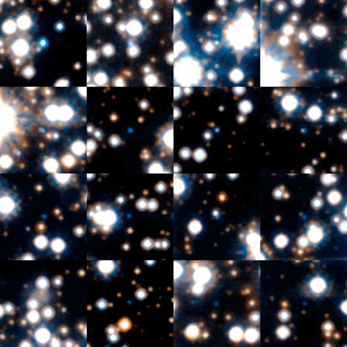 Estas estrelas anãs brancas foram captadas durante uma pesquisa astronómica feita pelo telescópio espacial Hubble da ...
