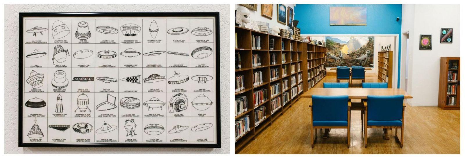 """A biblioteca """"Centro de Investigação de OVNIS"""" foi aberta ao público em 1992, integrada no Museu ..."""