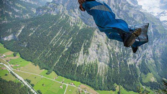 BASE jumper na Suíça