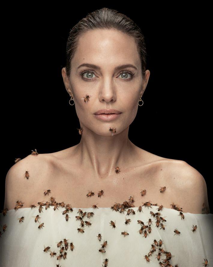 Retrato de Angelina Jolie