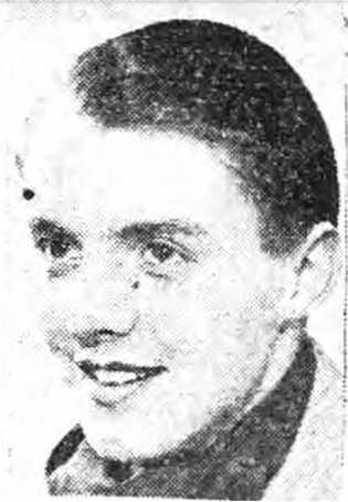 Este retrato de Thomas Sharpe apareceu no Derbyshire Times no dia 5 de maio de 1944, ...