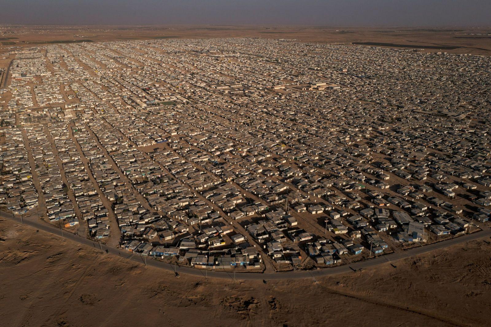 campo de refugiados de Zaatari - vista aérea